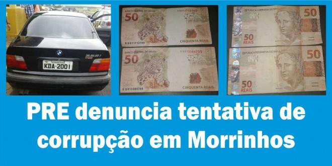 Policiais da PRE denunciam tentativa de suborno em Morrinhos