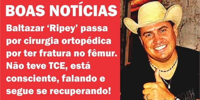 Ripey passa por cirurgia no fêmur e se recupera bem no HUGO em Goiânia