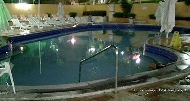 Criança de 3 anos morre afogada na piscina em Caldas Novas