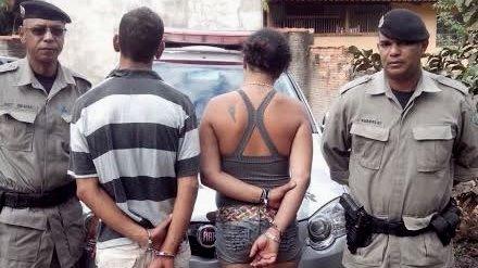Polícia Militar prende casal suspeito de roubos em Piracanjuba