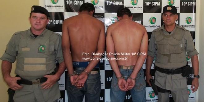 PM detém suspeitos de Homicídio em Morrinhos, menos de 9 horas após o crime