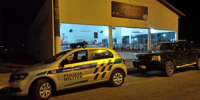 Polícia Militar age rápido e evita furto em restaurante de Morrinhos