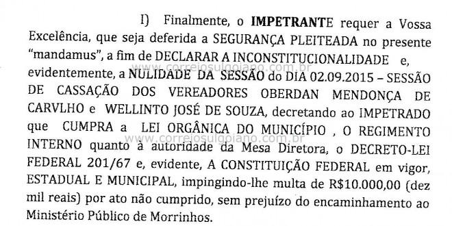 Paulinho do Helenês entre na Justiça para anular sessão que absolveu vereadores