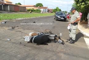 Motociclista que colidiu na lateral de carro, já está de volta a Morrinhos!!! Bruno se recuperou no HUGO e após alta, está em casa…