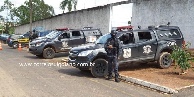 Operação especial para transferência de presos movimenta Morrinhos e região