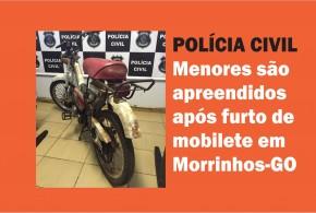 Em Morrinhos policiais encontram veículo furtado e apreendem menores, que estavam desmontando o mesmo!