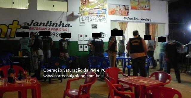 OPERAÇÃO SATURAÇÃO: Polícias Civil e Militar se juntam em Morrinhos para abordagens de surpresa!!!