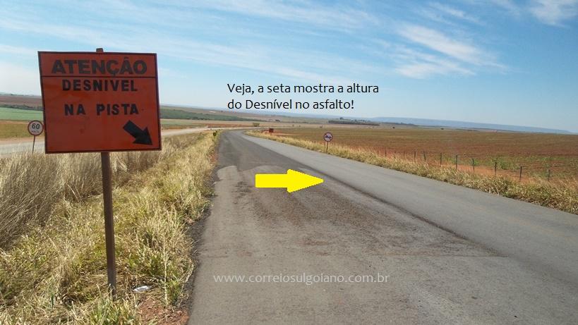 Não há faixas de sinalização no Asfalto