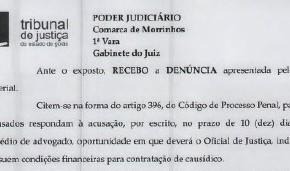 Justiça aceita denúncia contra 02 vereadores e outros suspeitos de irregularidades na Câmara de Morrinhos