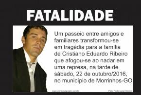 Homem morre afogado em represa durante pesca com amigos, em Morrinhos… Uma fatalidade!!!