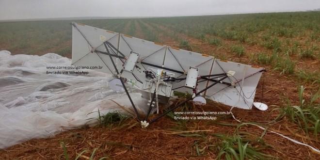 Pequeno Satélite da Google cai em fazenda de Goiatuba, no sul goiano