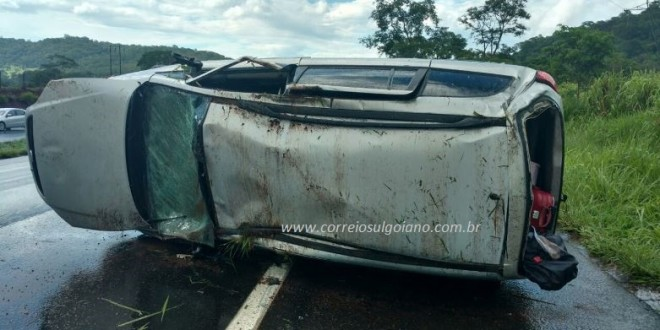 Família de morrinhenses sofre acidente na BR-153 e criança de 3 meses morre no local