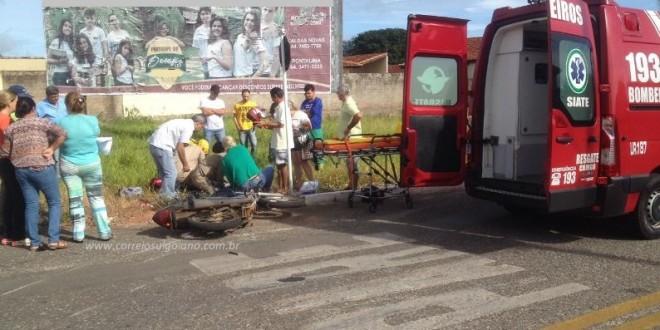 Jovem que sofreu acidente passa por cirurgias em Goiânia! Moto x carro deixa motociclista ferida em Morrinhos