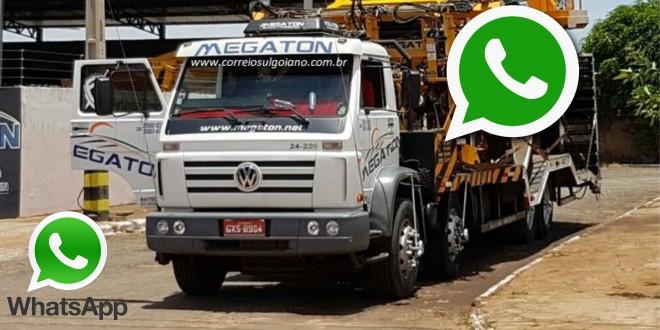 WhatsApp! Caminhão furtado em Morrinhos é encontrado após compartilhamento de imagens via WhatsApp