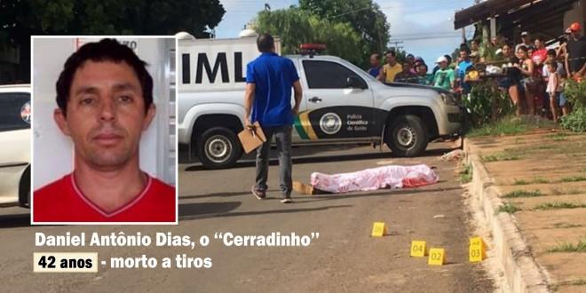 """Homem morre com vários tiros, em Caldas Novas. """"Cerradinho"""" já morou em Morrinhos, onde tem familiares"""