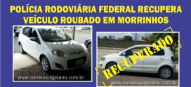 PRF recupera VW Fox que foi roubado na empresa Ouro Car veículos, em Morrinhos, no dia 10 de março