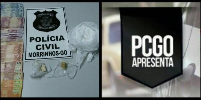 Em Morrinhos mulher de 46 anos é presa suspeita de tráfico, e drogas são apreendidas