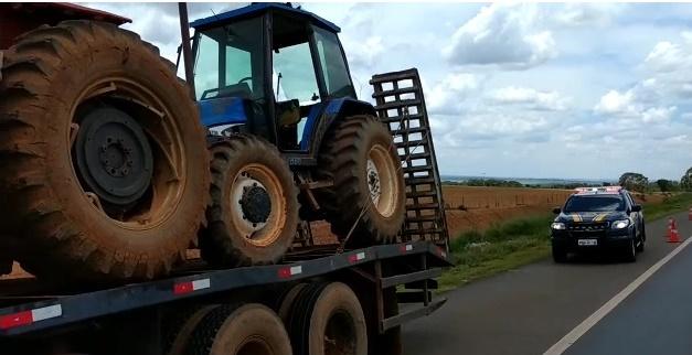 Polícia Rodoviária Federal recupera tratores roubados em fazenda na região de Ipameri