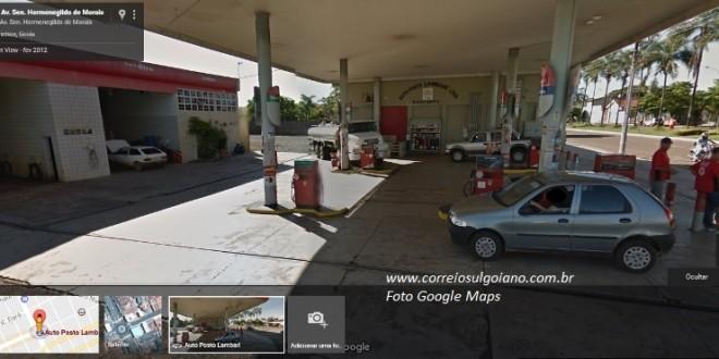 Tentativa de roubo é frustrada no Auto Posto Lambari no centro de Morrinhos