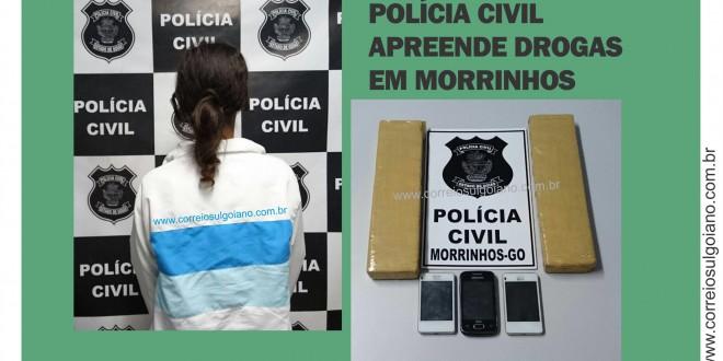 Polícia Civil prende suspeita de tráfico e apreende mais de um quilo de entorpecentes em Morrinhos