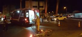 Moto x Carro – De novo!!! Frente a ACIM. Essa rotatória é campeã de acidentes