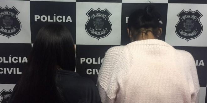 Duas mulheres de 18 anos são presas pela polícia civil, em Morrinhos suspeitas de tráfico de drogas