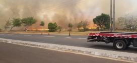 Fogo na vegetação causa grande susto, congestionamento e prejuízos em Itumbiara na tarde de domingo!