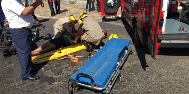 Acidentes de trânsito deixam vários motociclistas feridos em Morrinhos no fim de semana