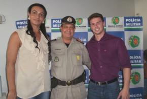 Deputado Francisco Oliveira participa de aula inaugural do curso da Polícia Militar, em Morrinhos