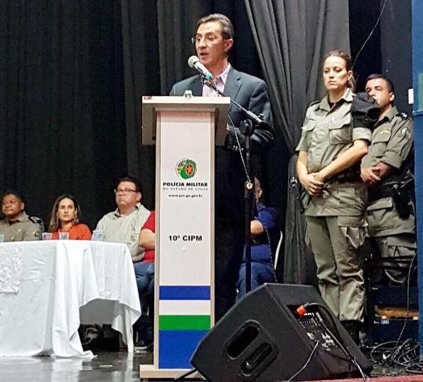 Deputado Francisco Oliveira prestigia aula inaugural de praças da PM em Morrinhos 2